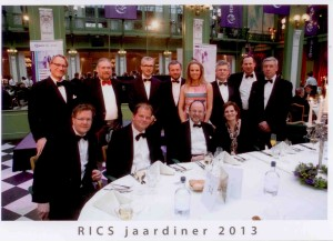 RICS Galadiner 2013_Dutch Board with speaker Prof Paul Schnabel and Robert Mahoney